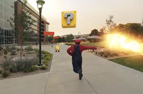 リアルなスーパーマリオ!マリオとルイージが街を飛びまくる動画