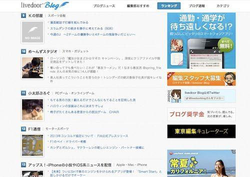 ライブドアブロガーランキング10位 2012-10-23_0943